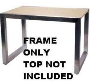 Store Display Fixtures New New Pedestal Steel Tubing Display Table 60 L x 36 w