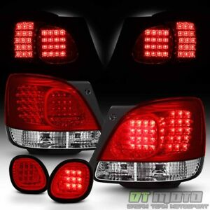 For 1998 05 Lexus Gs300 Gs400 Gs430 Red Clear Led Tail Lights led Trunk Lamp 4pc