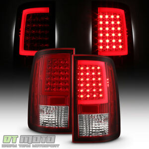 Red 2013 2018 Dodge Ram 1500 2500 3500 Led Tube Tail Lights Lamps Set Left Right