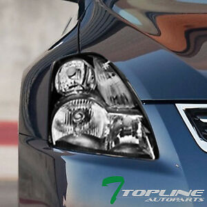 Topline For 2007 2009 Nissan Altima 4 Door Sedan Black Housing Headlights Signal