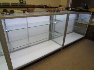 Showcase display Case Led Store Retail Glass 2 4ft Pick Up Only