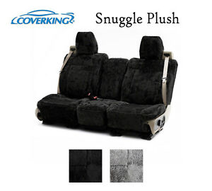 Coverking Custom Seat Covers Snuggle Plush Front Row 2 Color Options