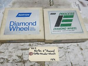 2 New Norton Straight Cup Diamond Grinding Wheels 120 220 For Cutter Grinder