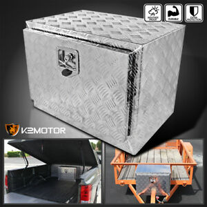 24 Heavy Duty Aluminum Tool Box Truck Pickup Trailer Underbody Storage Lock
