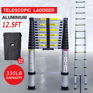 12 5ft Step Ladder Extensiontelescoping Lightweight Portable Folding Telescopic