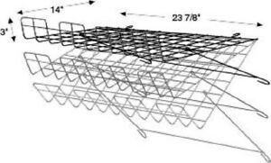 Store Display Fixtures New Black Grid Wire Adjustable Wire Shelf 24 w X 14 d