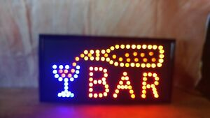 Open Bar Led Neon Business Motion Light Sign Tote 27
