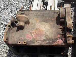 Farmall C Tractor Engine Block stuck