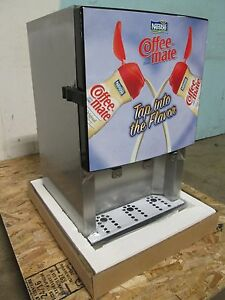 Bnib silver King Commercial Refrigerated 3 Flavors Coffee Creamer Dispenser