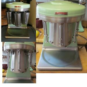 Awesome Old Prince Castle Mid Century 5 Head Multimixer Milkshake Machine Green