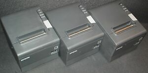 Lot Of 3 Epson Tm t88v M244a Pos Parallel usb Interface Thermal Receipt Printer