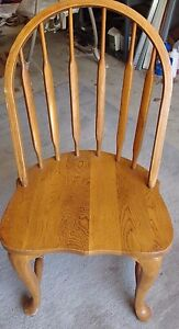 Solid Oak Curved Back Chair 36 High X 19 Wide Are You Looking For One