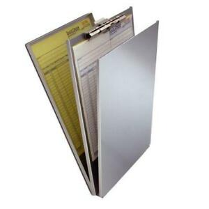 Saunders 10019 Aluminum Top Opening A holder Compartment 8 5 X 14 Clipboard