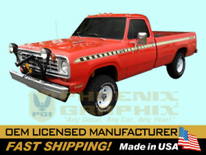 1973 1974 1975 1976 Dodge D100 Sno fiter Snow Plow Truck Decal Stripe Graphickit