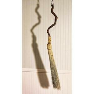 Contorted Willow Fireplace Besom Round Sewn Hearth Broom One Only