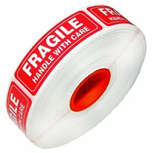 1 X 3 Fragile Handle With Care Stickers Labels 1000 Per Roll 1 6 54 Rolls