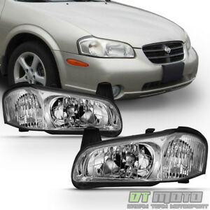 For 2000 2001 Maxima Headlights Headlamps Light Replacement Left Right 00 01