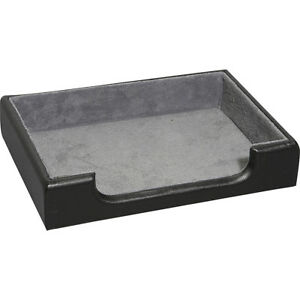Royce Leather Desk Accessory Tray Black Business Accessorie New