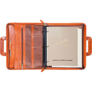 Scully 3 ring Zip Binder Organizer With Drop Handles Business Accessorie New