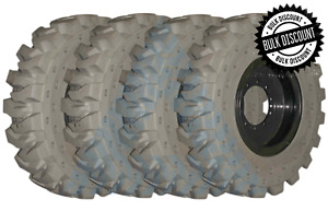 4 Pk 13 00x24 Tire Non Marking 1300 24 Solid Tires And Wheels gradall Tires