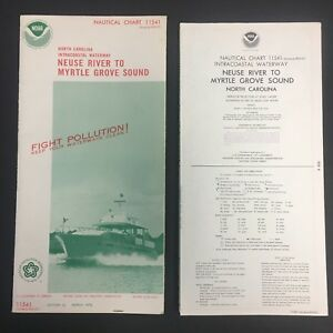 1976 Nautical Chart Map 11541 W Cover 15x58 Ex North Carolina Noaa 10318