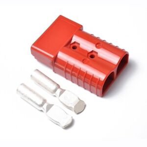 50a 600v Forklift Battery Connector Adapter Plug With 2 Ports Power Plug Red