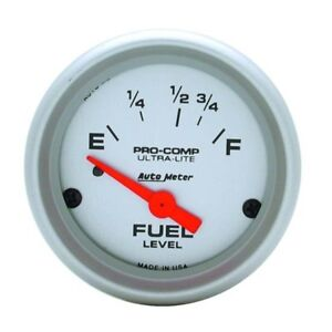Auto Meter 4318 Ultra Lite Air Core Fuel Level Gauge 2 1 16 Inch