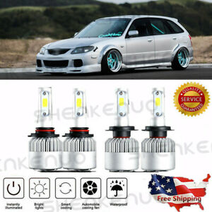4x H7 9005 Hb3 Led Headlight Bulbs Kit For Mazda 3 2004 2006 Protege 5 2002 2003