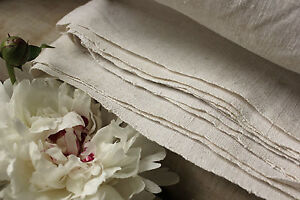 Antique French Linen Blanket Or Sheet Hand Woven Homespun 88x79 Ib Monogram