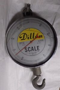 W. C. Dillon 1000 Pound Hanging Scale Model S-1000 16 Inch Face (F5