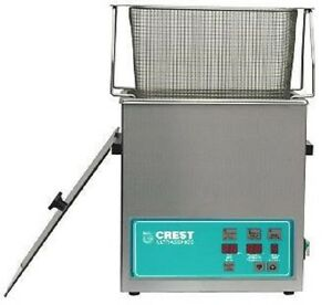 New Crest 1 5 Gallon Cp500d Ultrasonic Heated Cleaner Basket