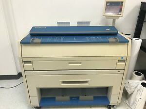 Kip 3000 3100 Low Meter Wide Format Plotter 2 Roll Print Scan Copy
