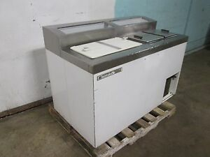 master bilt Flr 80 Commercial H d 54 w Ice Cream Freezer Dipping Cabinet