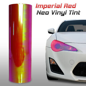 12 x360 Chameleon Neo Red Headlight Fog Light Taillight Vinyl Tint Film c