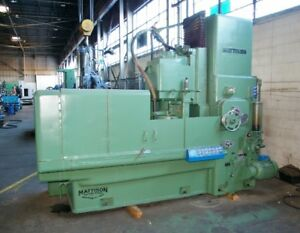 54 Mattison 48 Rotary Surface Grinder Hydraulic Table Infeed