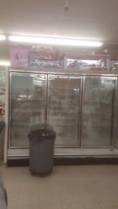 Commercial 6 Door Freezer In 2 Sections Compressor In Excellent Condition