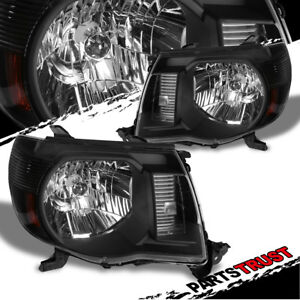 For 2005 2011 Toyota Tacoma Trd Style Black Headlights Set 2006 2007 2008 2009