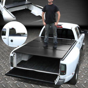 For 99 18 Ford Super Duty 6 5ft Bed Aluminum Frame Tri fold Hard Tonneau Cover