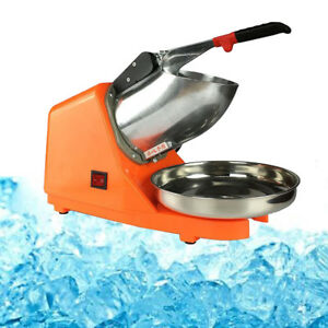 Tabletop Electric Ice Crusher Shaver Machine Snow Cone Maker Shaved Ice 143 Lbs