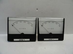 Analog Simpson Ac Volts Meter 0 300 Panel Meter lot Of 2