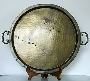L A R G E Antique Brass Imperial Russian Samovar Tray C 1900