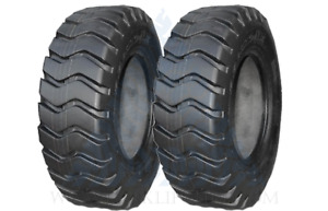 two Tires 23 5x25 Tires E3 Bias Wheel Loader Tires 23 5x25 Tires 20 Ply new