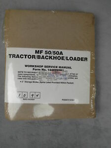 Massey Ferguson Mf50 Mf50a Tractor Backhoe Loader Workshop Service Manual