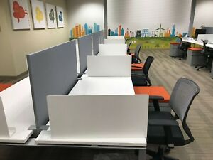 Used Office Cubicles Amq Kinex 5x2 5 Cubicles