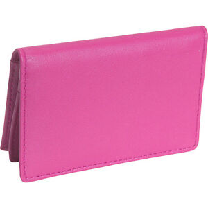 Royce Leather Deluxe Card Holder Wild Berry Business Accessorie New