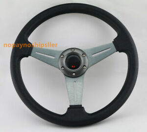 Blue Jdm Sport Racing Spoke Steering Wheel Quick Release For Honda Toyota Sti