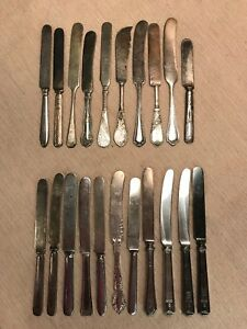 21 Vintage Antique Silverplate Butter Spreaders Youth Breakfast Knives Craft Lot