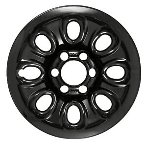 08069 Refinished 17 Black Steel Wheel Chevy Silverado Gmc Sierra 1500 Trucks