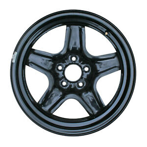 08075 Compatible New Steel Wheel 17 X 7 Black Full Face Painted