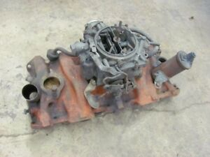 1964 64 Chevy Impala Chevelle Chevy Ii Intake Manifold W Rochester Carb 3844457